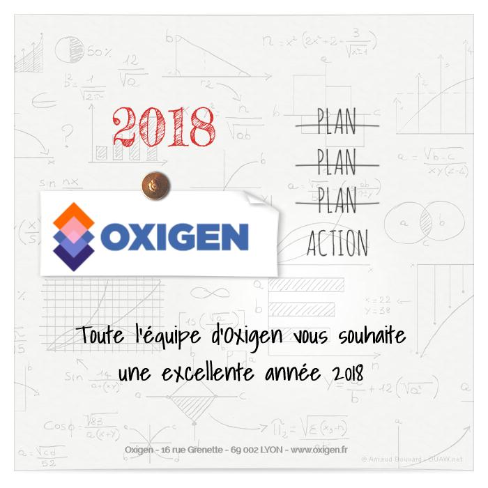 Carte de voeux 2018 oxigen